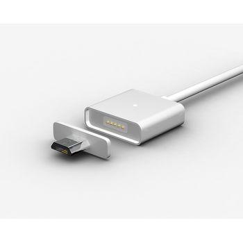 WSKEN MicroUSB magnetický nabíjací/datový kabel,(ekv.Znaps) dve koncovky, 1m,kov/kov, čierne koncovky